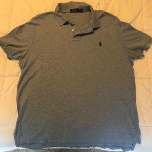 Polo Ralph Lauren shirt. Light blue/grey. Size XL